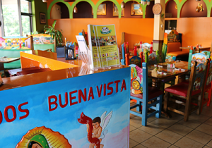 Our vibrant Buena Vista Mexican Restaurant dining room in Wayne, Pennsylvania.